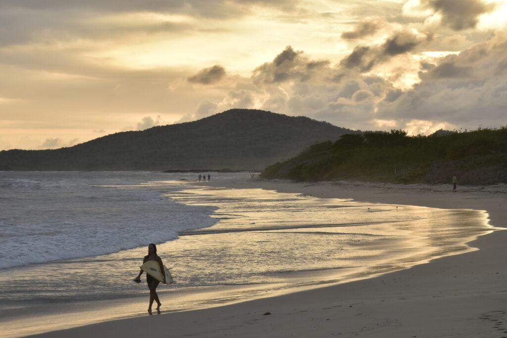 a beach on Isabela Island